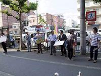 鳩山首相辞任緊急街頭宣伝