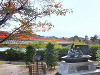 京都嵐山塔の島の紅葉