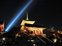 京都清水寺の紅葉