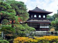 京都銀閣寺の紅葉