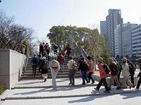 中之島公園ウォーキング京都ハイクファミリー
