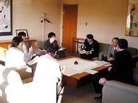 京田辺市長と懇談