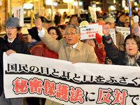 秘密保護法反対デモ