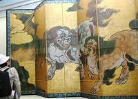 狩野永徳展「唐獅子図屏風」