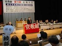 京都教職員組合定期大会