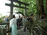 疫神社夏越祭の大芽輪くぐり