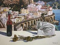 矢野信司 個展「南イタリアを描く」より『過ぎ去りし日の詩』(アマルフィ)