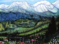 研義治油絵個展より『飯田高原の南アルプス(100P)』