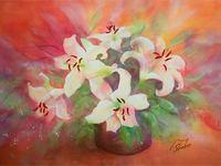 松原晶子花の水彩画教室作品展