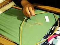 伝統的な京刺繍で和小物作り体験