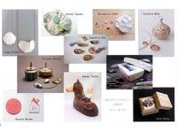 陶作家のアクセサリーと陶箱展