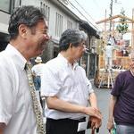 祇園祭を受け継ぐ町衆を激励 共産党・穀田衆院議員