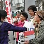 被災者支援へ力を尽くす 共産・岩橋京都市議・島田府議候補