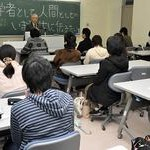 安斎育郎氏が学生に語る 民青同盟主催の勉強会