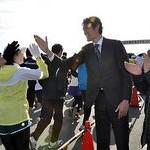 京都木津川マラソン大会に4494人 日本記録保持者・高岡氏が激励