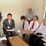 爆音、低空飛行に不安「展示飛行」中止を 共産党が空自奈良基地へ申し入れ