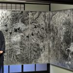被ばくの恐怖、アクリル画の大作に 山下二美子さん個展 23日までギャラリーかもがわ