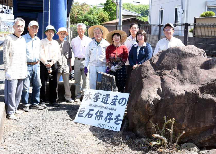 南山城水害伝える「巨石」保存を 井手町・JR玉水駅建て替え工事で ...