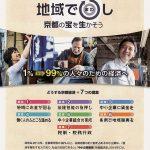 仕事とお金地域で回す 「Kyoto地域循環経済ネット」が政策パンフ/振興条例、文化財改修・・・7つの提案