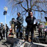 弥次さん喜多さんも「戦争する国」ごめんだ 三条大橋で安倍9条改憲反対訴え/7都府県で「東海道五十三次いっせいアピール」